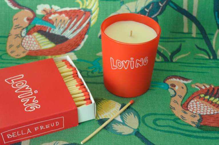 'Lotus Garden' By F Schumacher with Bella Freud Loving candle and matches
