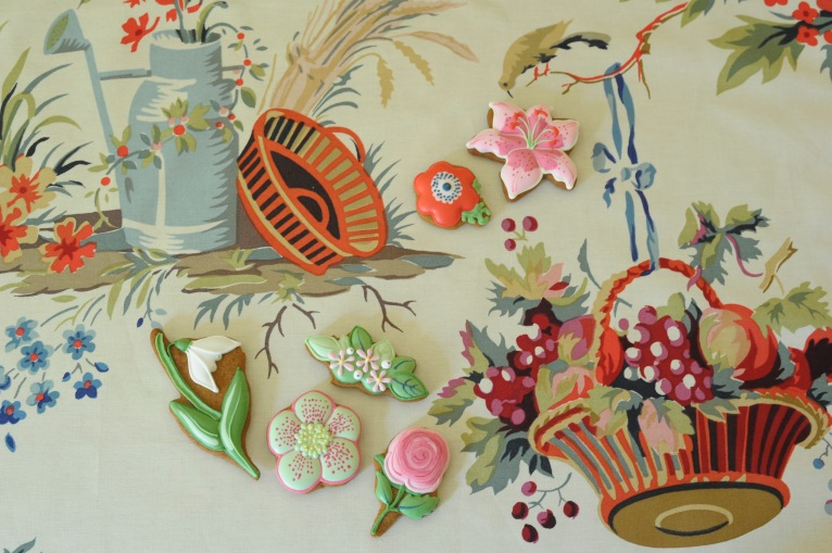 'Floreal' by Edmond Petit with 'Flowers in Spring' biscuits by Fortnum and Mason