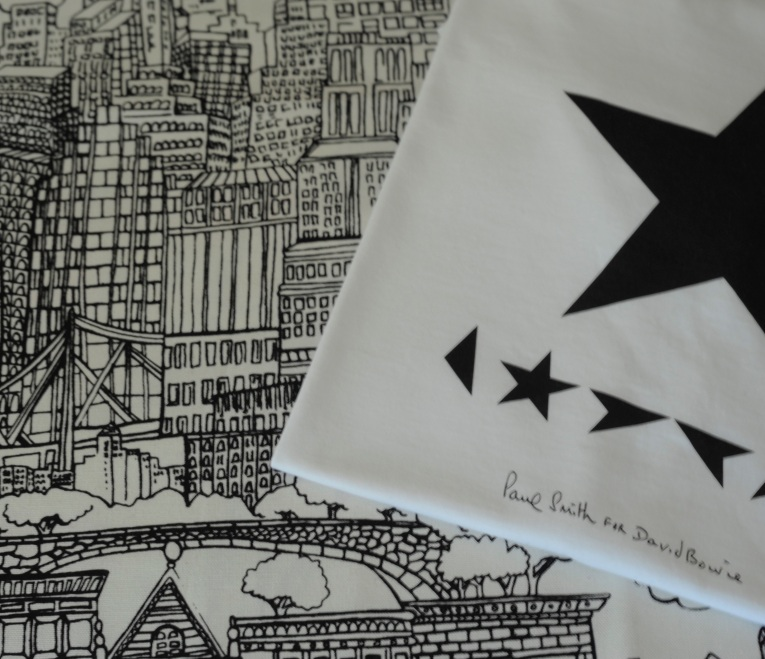 'New York New York' - Saul Steinberg for F Schumacher. 'Blackstar' T-Shirt, Paul Smith for David Bowie