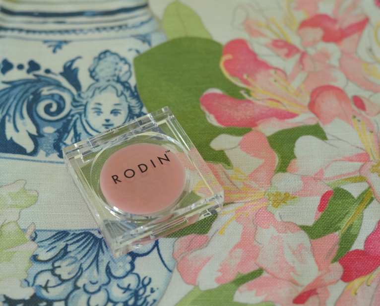 'Bragance Rose' by Manuel Canovas. Blush lip balm by Rodin