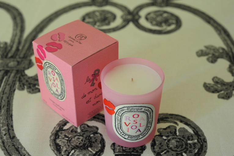 Villa Bella by Gaston y Daniela. Rosaviola candle by Diptique